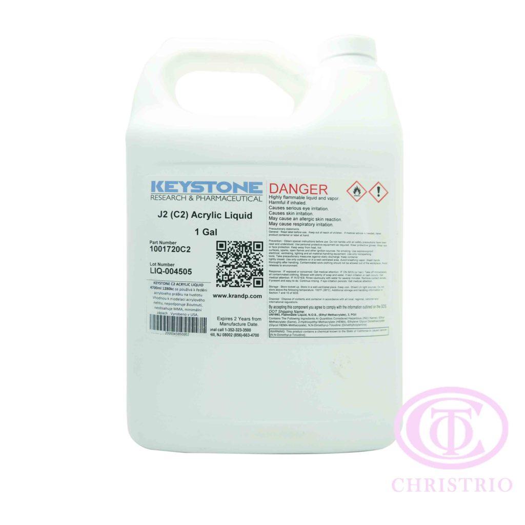 Keystone Liquid C2 – Tvrdidlo pro akrylovou modeláž (1gal/3,79l)