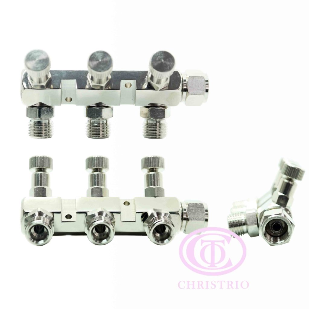 Airbrush manifold 3 way