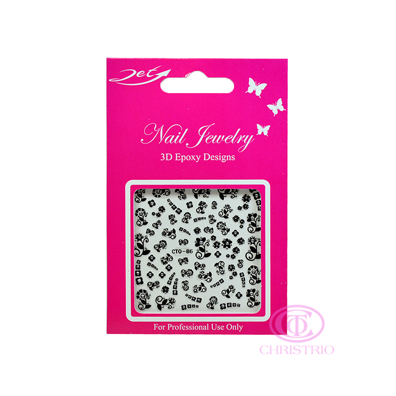 JET Nail Jewelry 3D Epoxy Designs stickers - B6