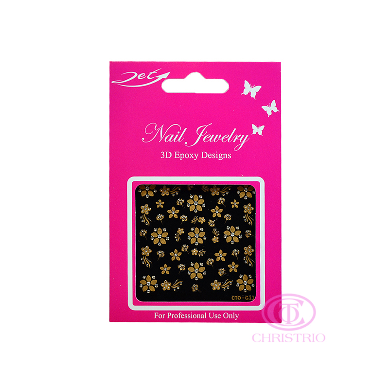 JET Nail Jewelry 3D Epoxy Designs stickers - G11