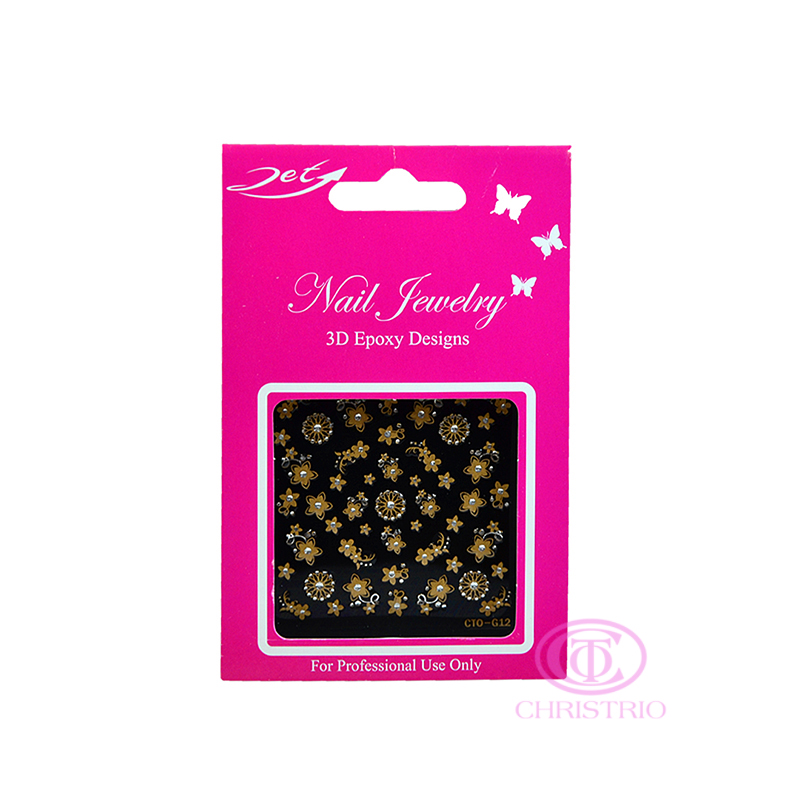 JET Nail Jewelry 3D Epoxy Designs stickers - G12