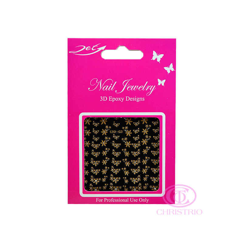 JET Nail Jewelry 3D Epoxy Designs stickers - G3