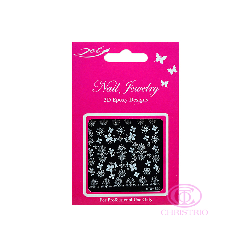 JET Nail Jewelry 3D Epoxy Designs stickers - S10