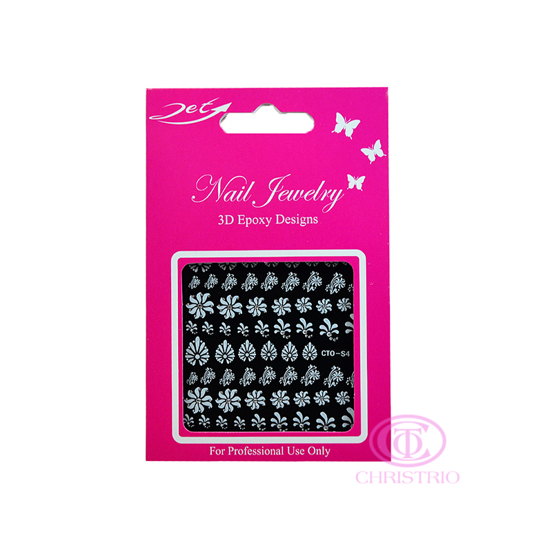 JET Nail Jewelry 3D Epoxy Designs stickers - S4