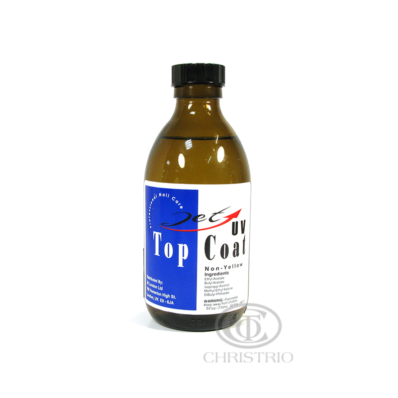 JET UV Top Coat Non-Yellow 8oz 236ml