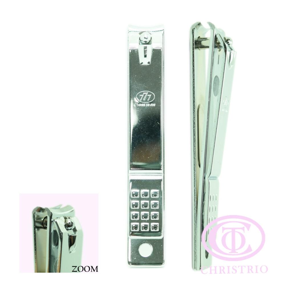 777 nail clipper stainless L curved – Pedikérské kleště