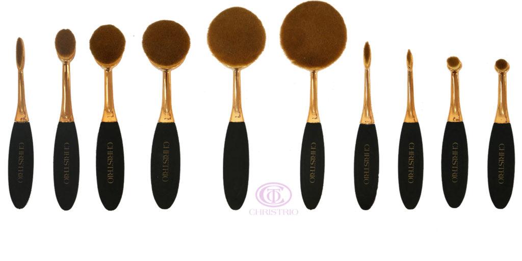 CHRISTRIO Make Up brush set 10pcsbox