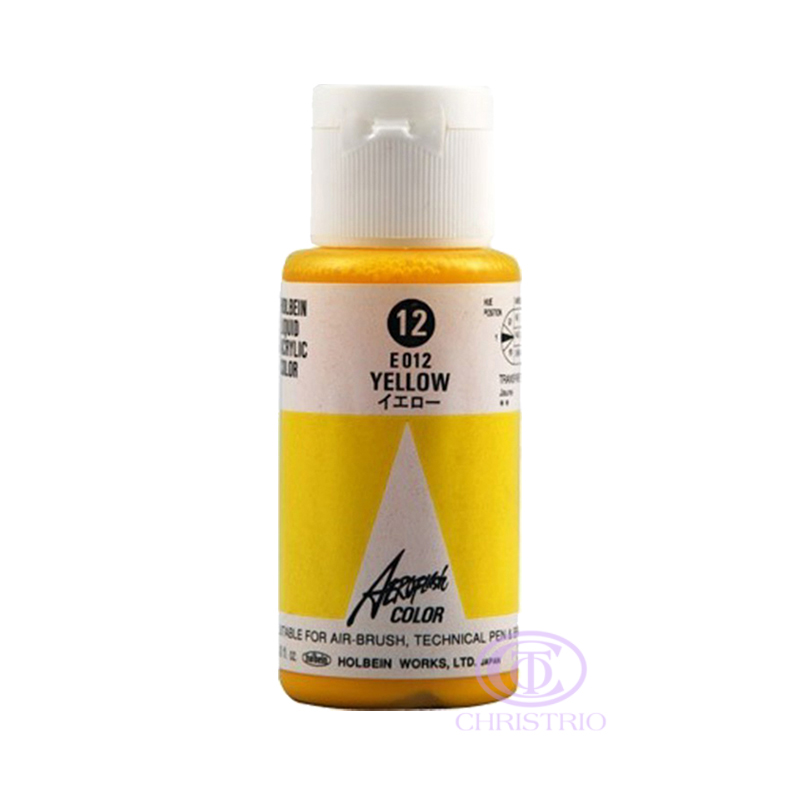 HOLBEIN Airbrush Paint 1,18oz 35ml 12-Yellow