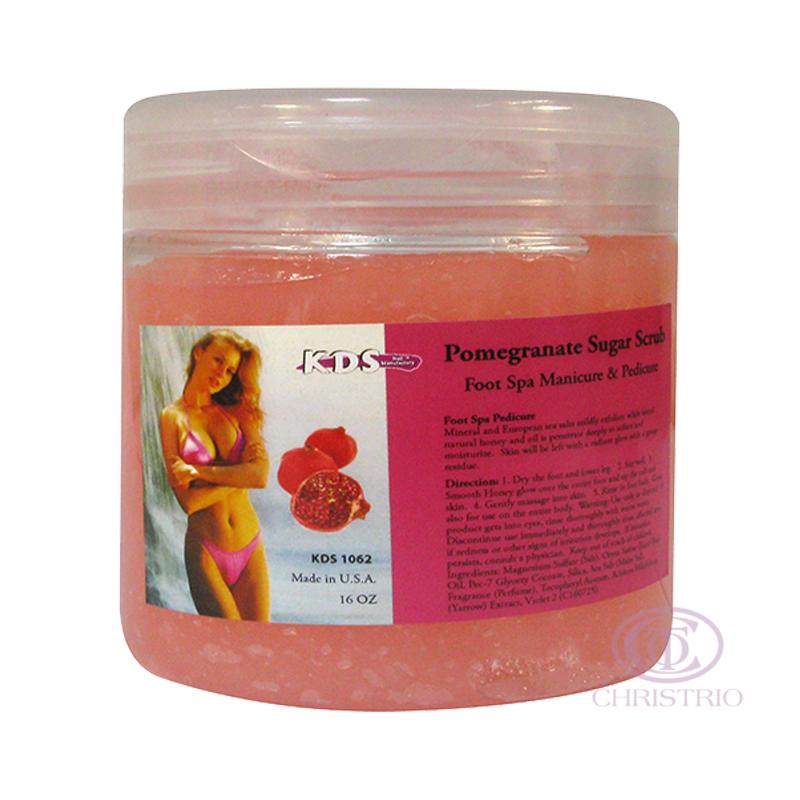 KDS Sugar scrub 16oz 500ml - pomegranate