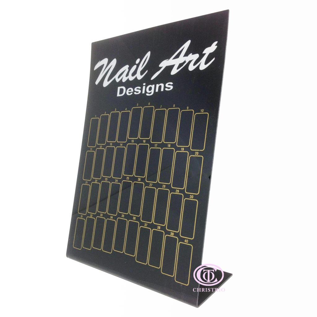 Nail Display Stand – Stojan na Vzorník – černý