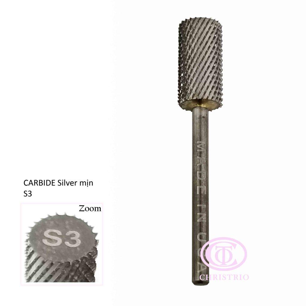 Carbide(stříbrný-M) – Brusná fréza (S3)