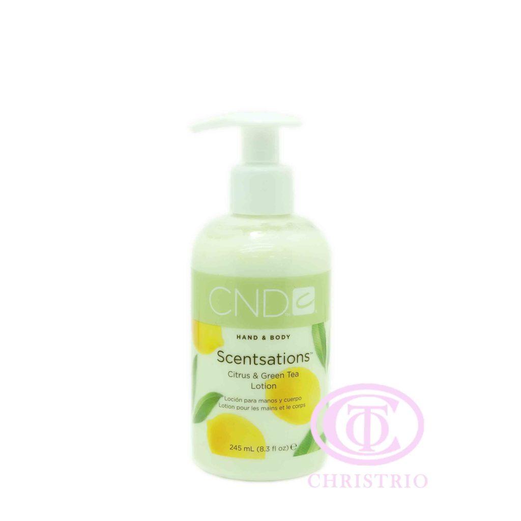 CND Hand & Body Scentsations – Vyživující krém na ruce (Citrus & Green Tea 245ml)