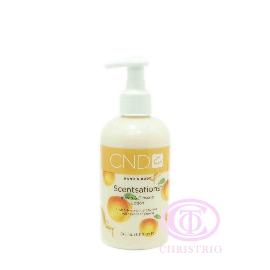 CND Hand & Body Scentsations – Vyživující krém na ruce (Peach & GinSeng 245ml)