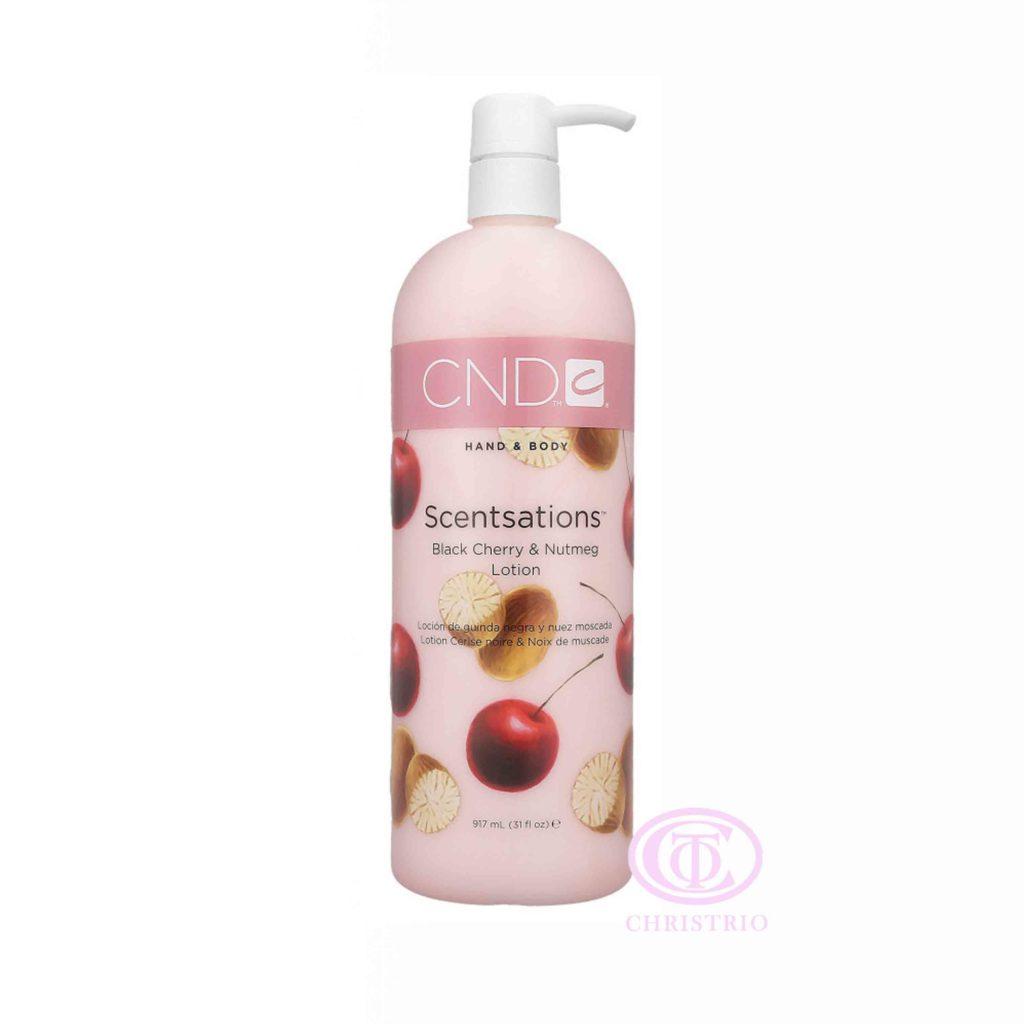 CND Hand & Body Scentsations – Vyživující krém na ruce (Black Cherry & Nutmeg 917ml)