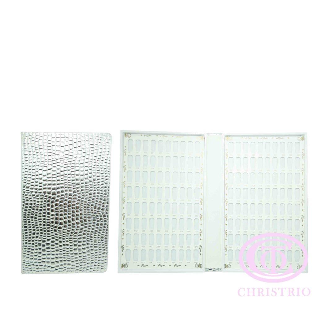 Nail display book 160 Tips Cream – Vzorník na nehty