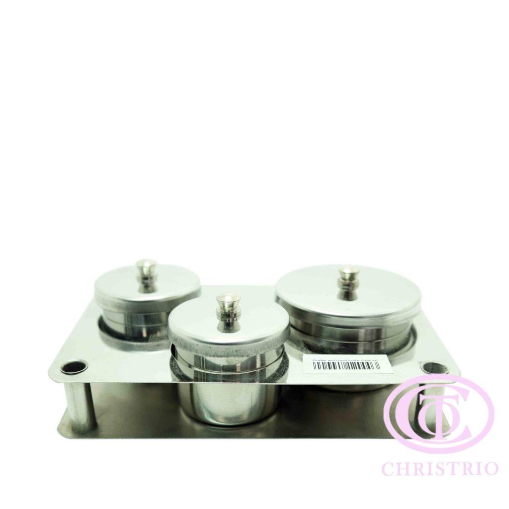 Powder and Liquid holder metal set – nádoba na pudr