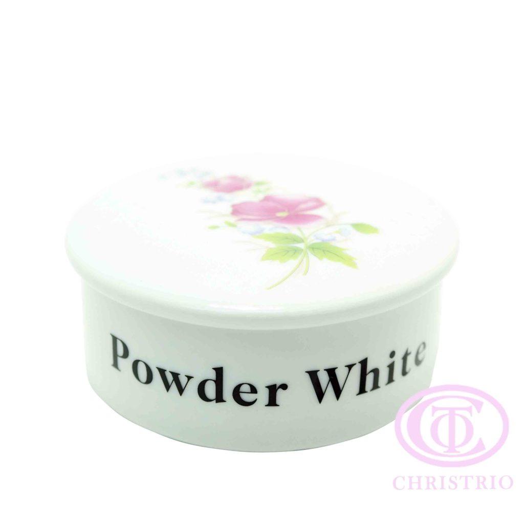 Empty Powder Jar ceramic – powder pink