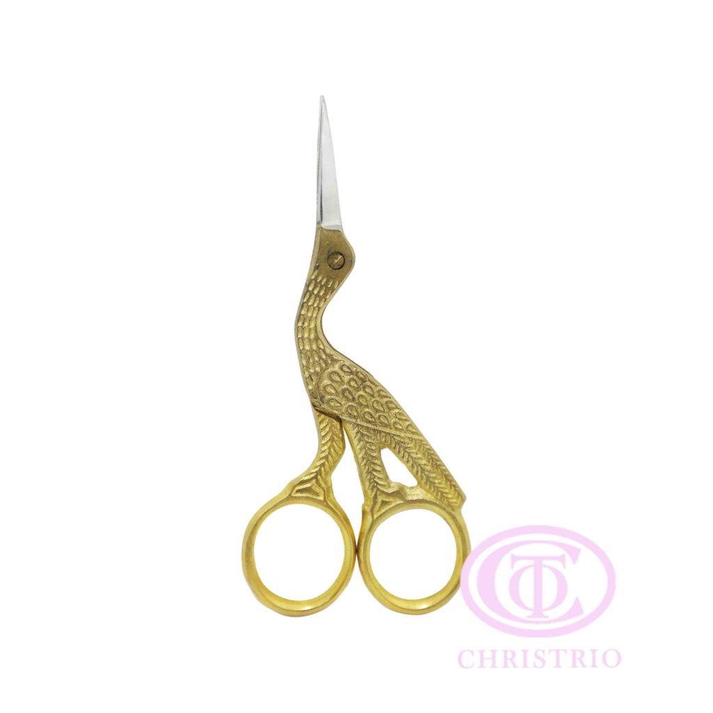 Gold Stork Scissors S-L golden