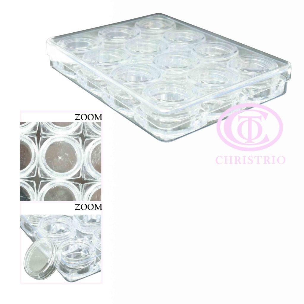 Plastic box for rhinestone – box na zdobení