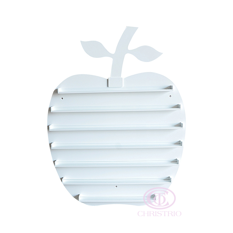 Apple Wall rack L 100x80x5.5cm – white