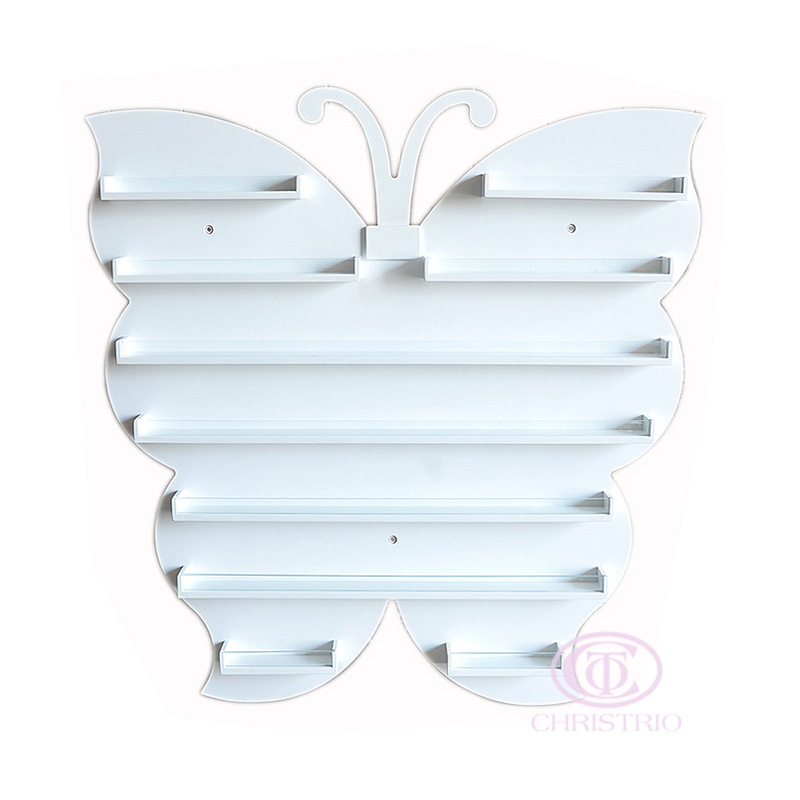 Butterfly Wall rack L 82x80x5,5cm white