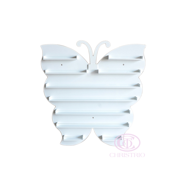 Butterfly Wall rack S white