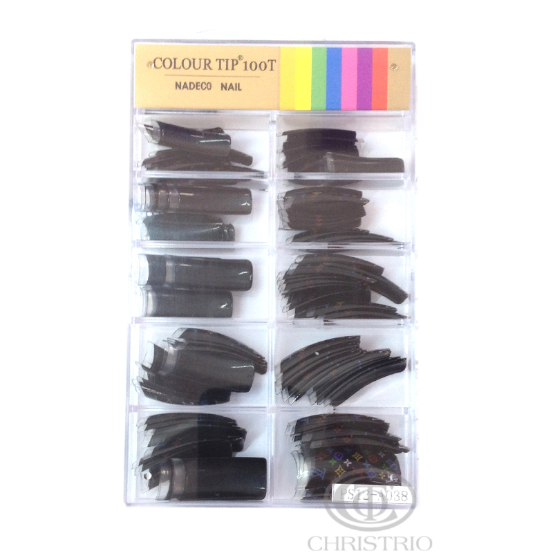COLOUR TIP 100T Nadeco Nail Black LV