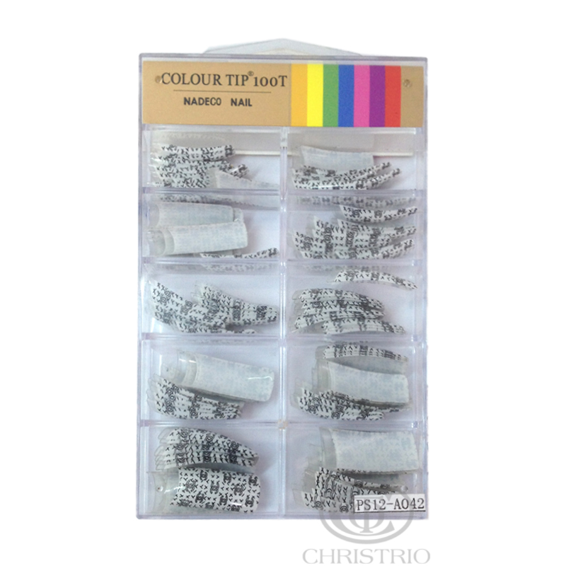 COLOUR TIP 100T Nadeco Nail PS12 A042