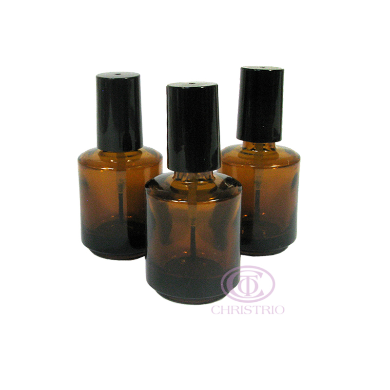 Empty Glass Bottle 0,5oz 15ml brown