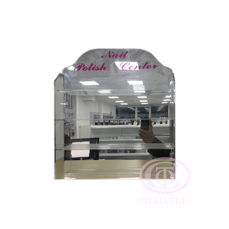 Wall rack 4 rows S 48 bottles with doors – Stojan na laky
