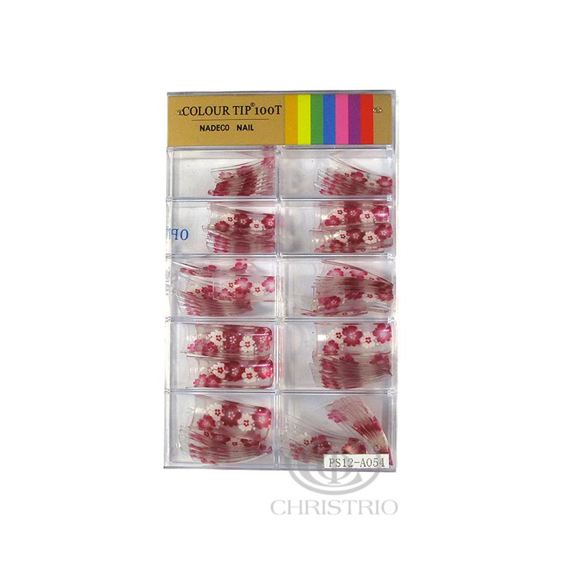 NADECO Tips M 100pc sbox - Flower pattern