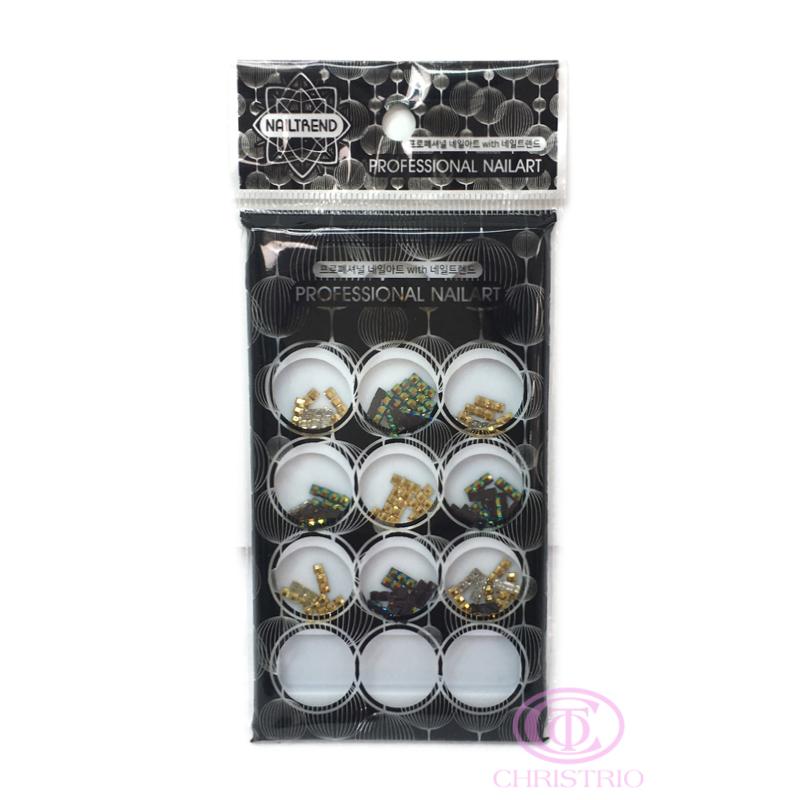 NAILTREND Glitters 12pcsbox MixColor 1