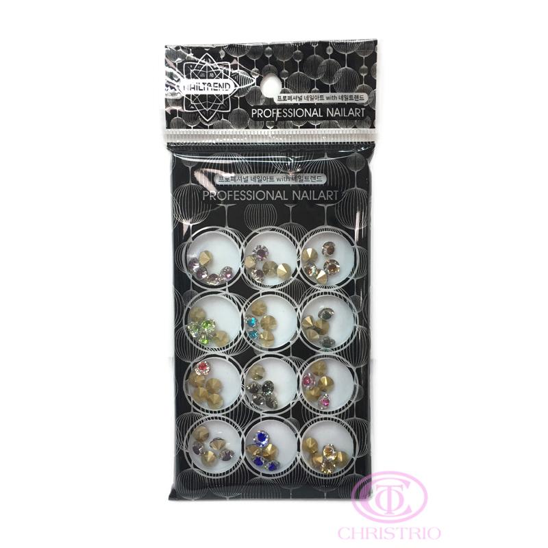 NAILTREND Glitters 12pcsbox MixColor 3
