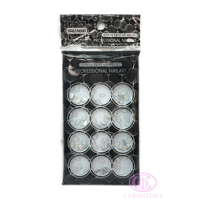 NAILTREND Glitters 12pcsbox MixColor 4