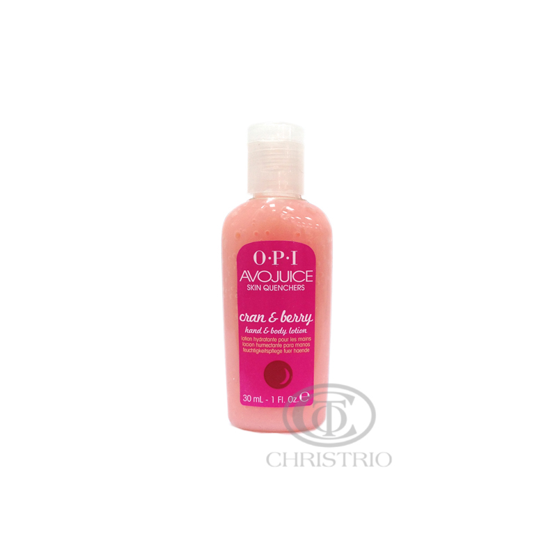 OPI Avojuice Hydrating Skin Quenchers - Cran &b Berry Hand & Body Lotion 30ml