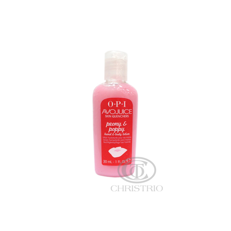 OPI Avojuice Hydrating Skin Quenchers - Peony Poppy Hand & Body Lotion 30ml