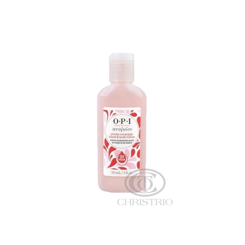 OPI Avojuice Hydrating Skin Quenchers - Peony & Poppy Juicie Hand & Body Lotion 30ml