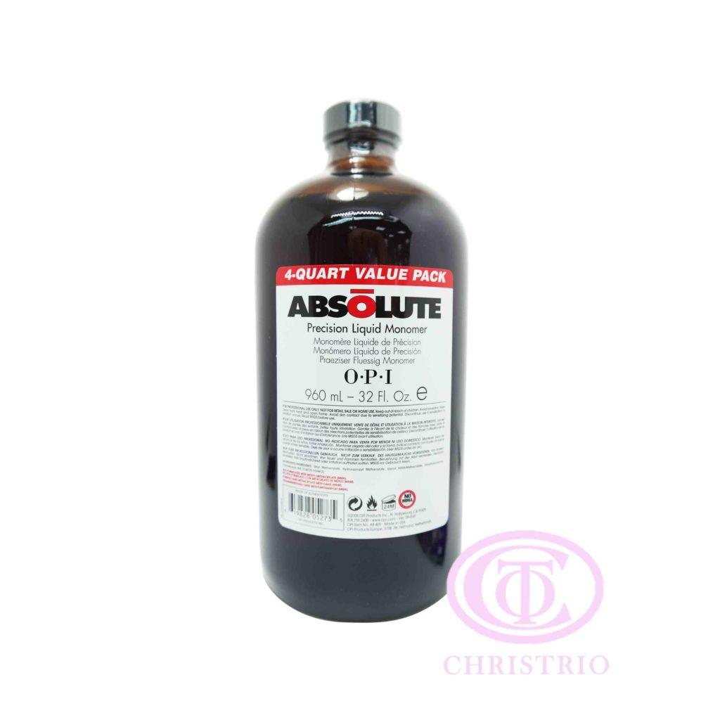 OPI Absolute Liquid Monomer  – Tvrdidlo pro akrylovou modeláž ( 32oz/960ml)