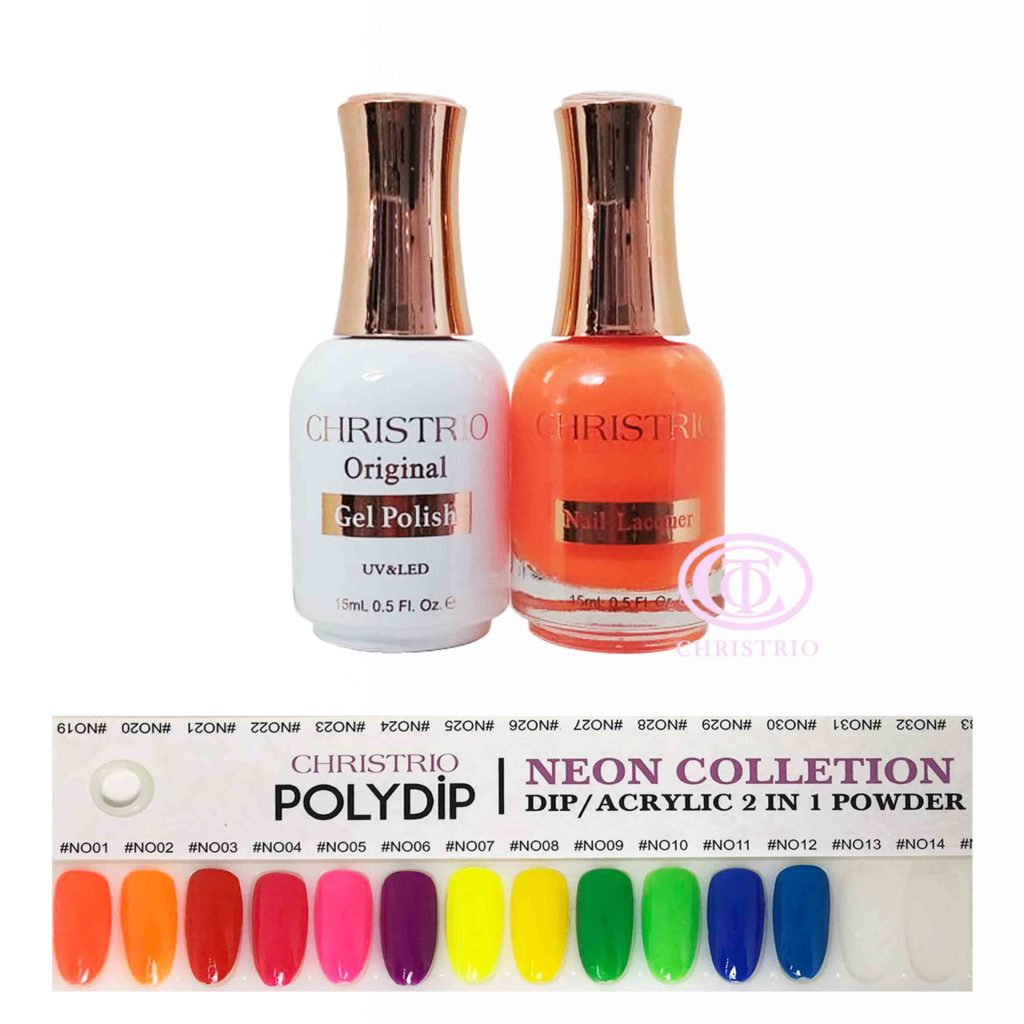 Poly Matching Gel Set Neon (12 colours-15ml)