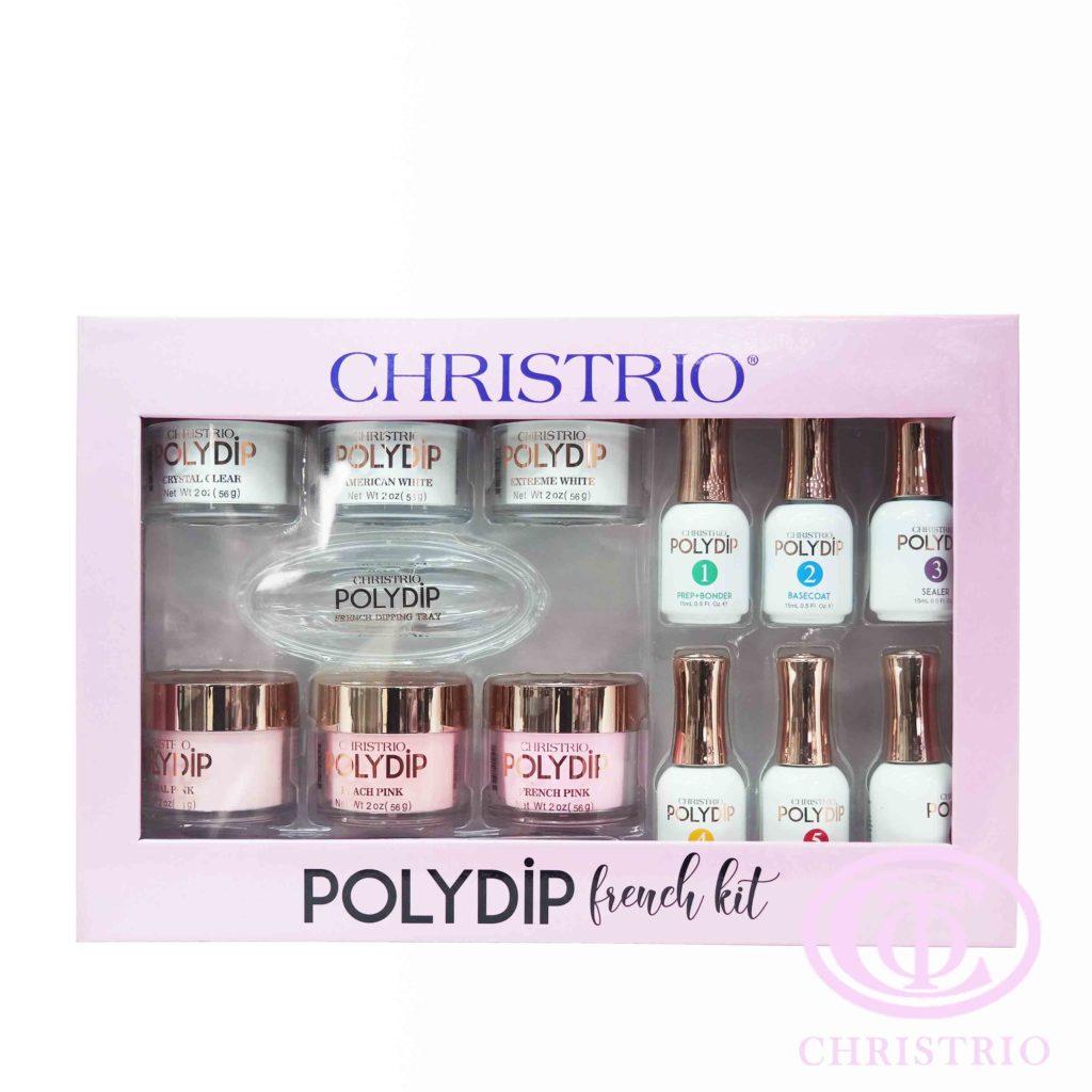 Christrio PolyDip French Kit – Sada akrylový pudr