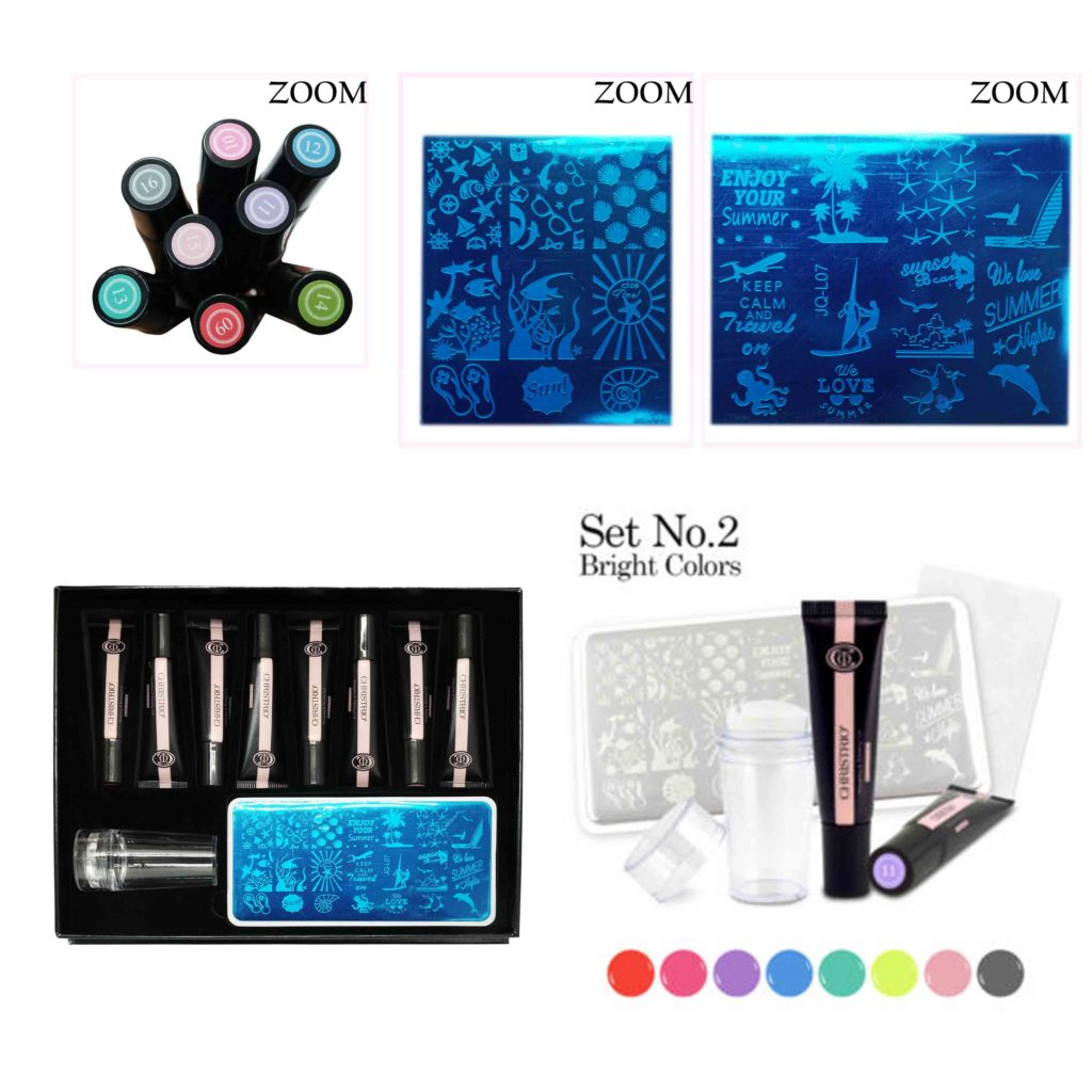 Stamping & Painting Gel Set –  No. 2 (Bright Colors)