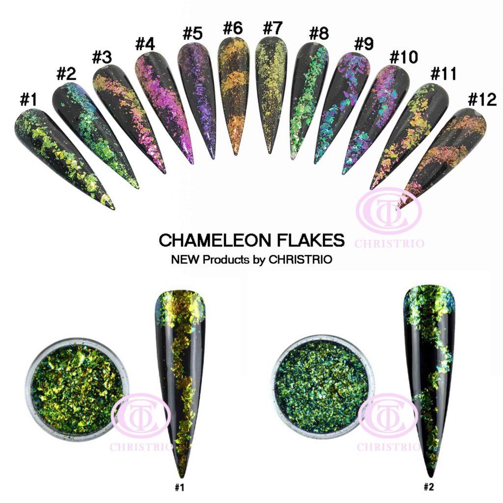CTO Flakes Charmeleon – Zdobení na nehty #1,#2