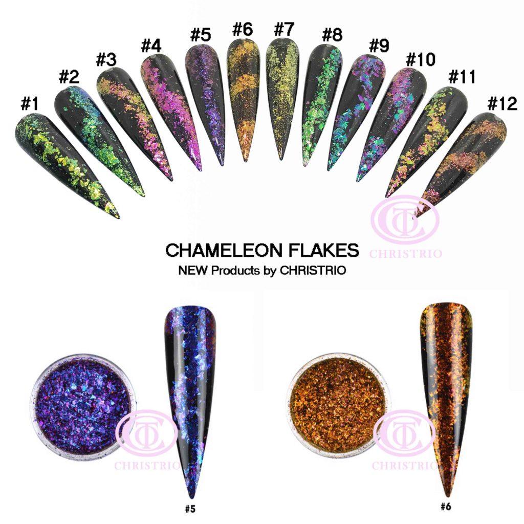 CTO Flakes Charmeleon – Zdobení na nehty #5,#6