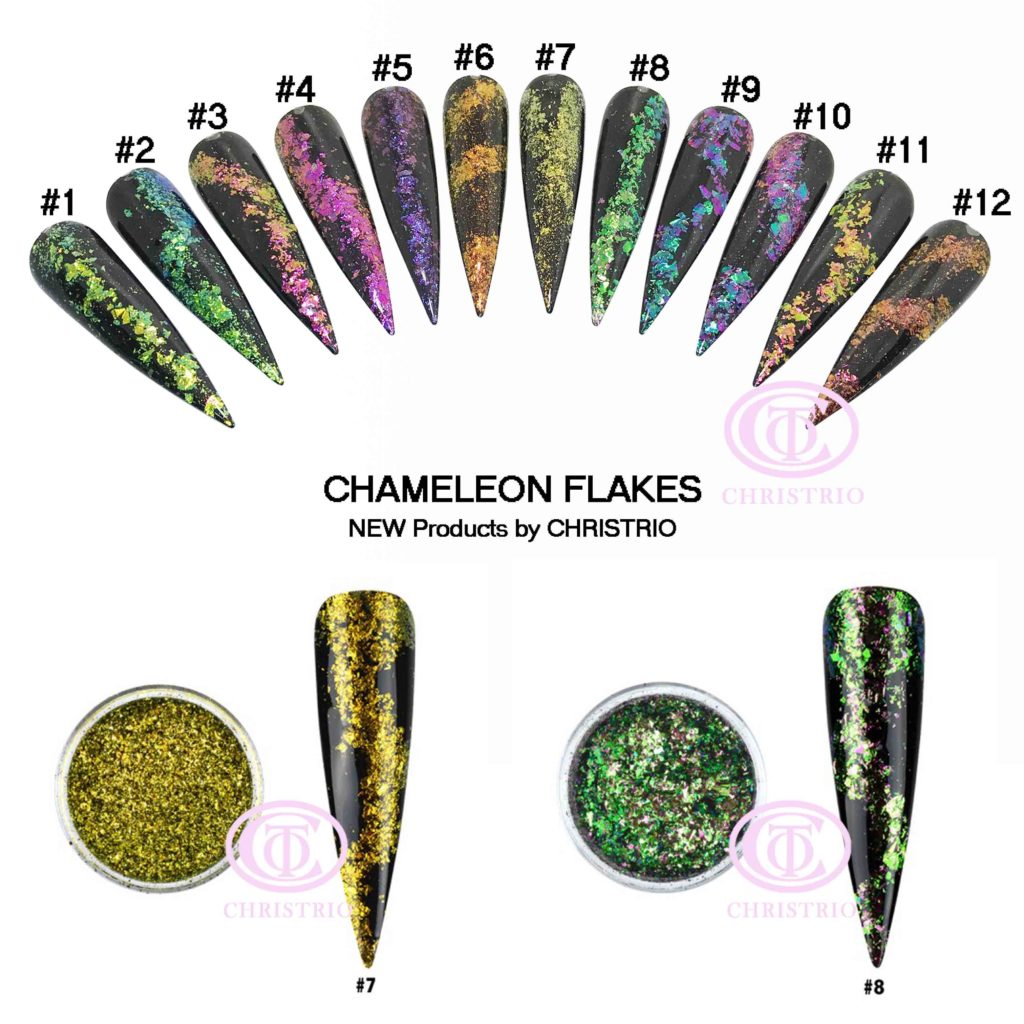 CTO Flakes Charmeleon – Zdobení na nehty #7,#8