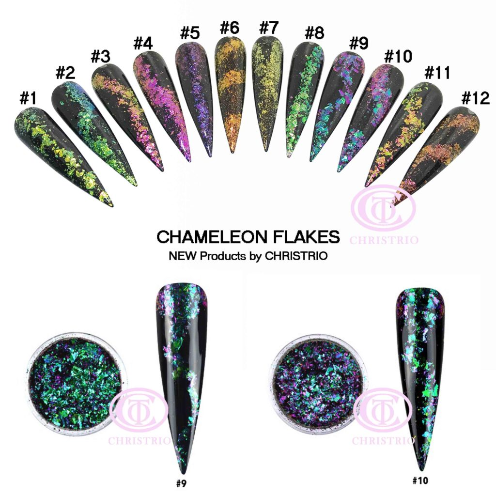 CTO Flakes Charmeleon – Zdobení na nehty #9,#10