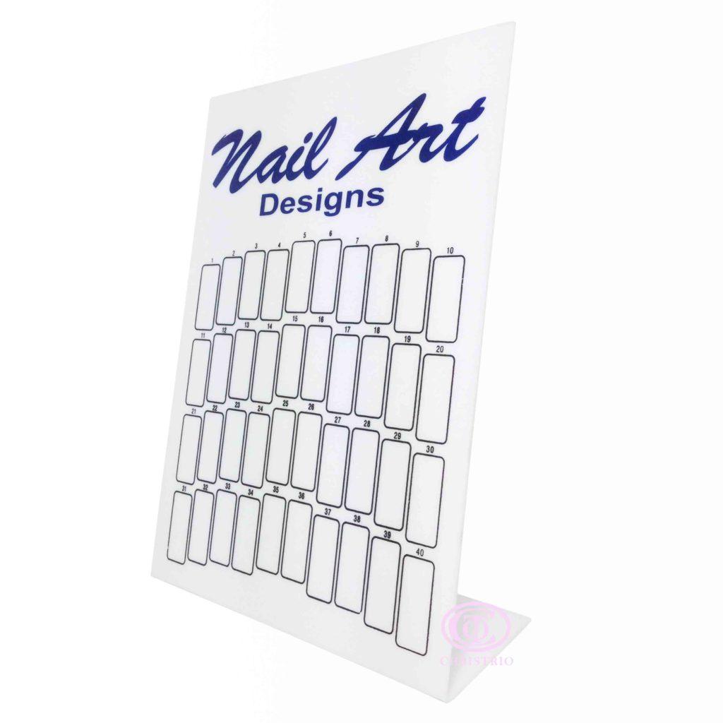 Nail Art Designs display S white –  Vzorník na nehty