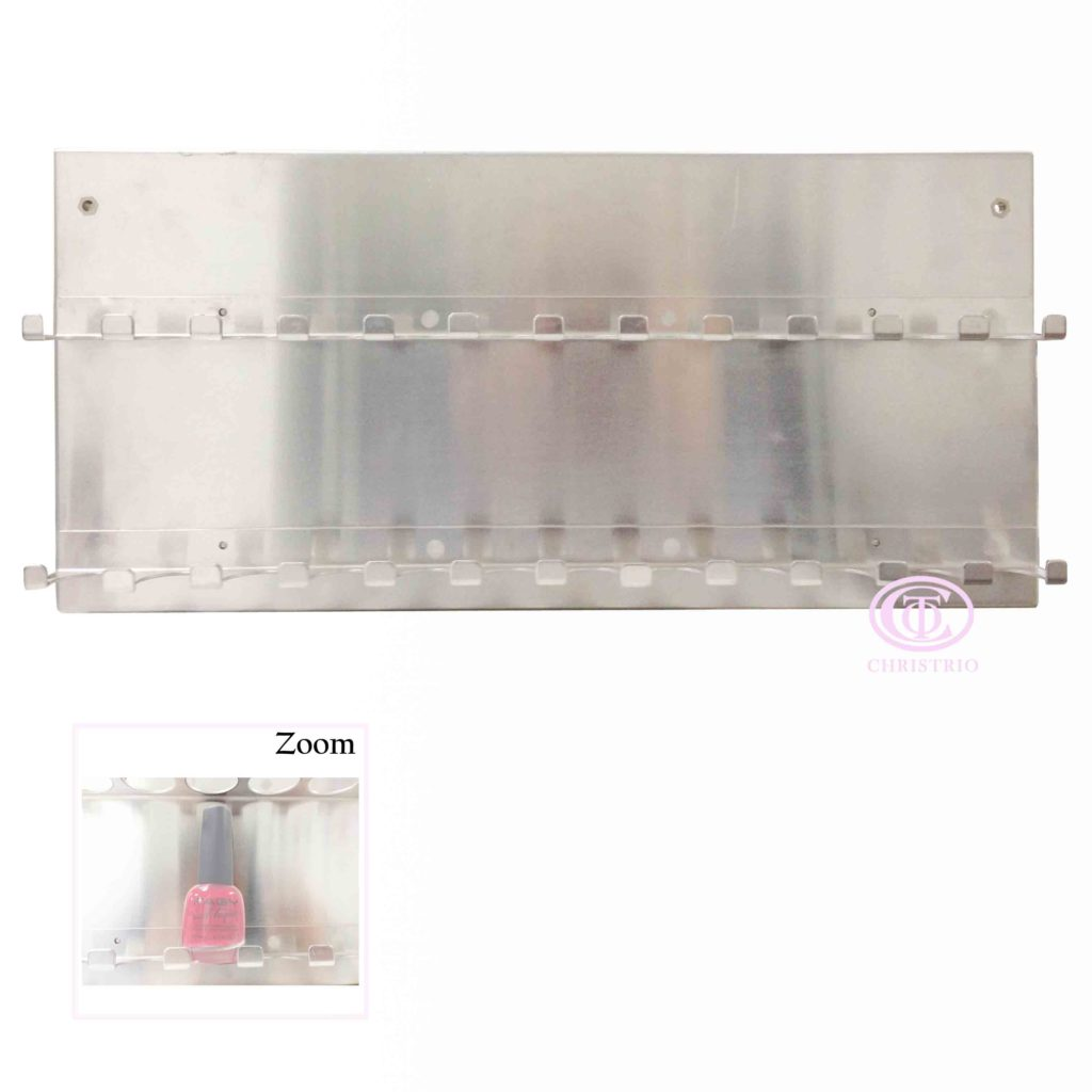 Wall rack 2 rows 24 bottles metal – Stojan na laky