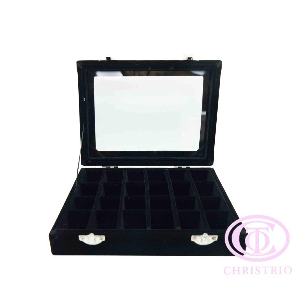Rhinestone box black S – Zdobení krabice na nehty