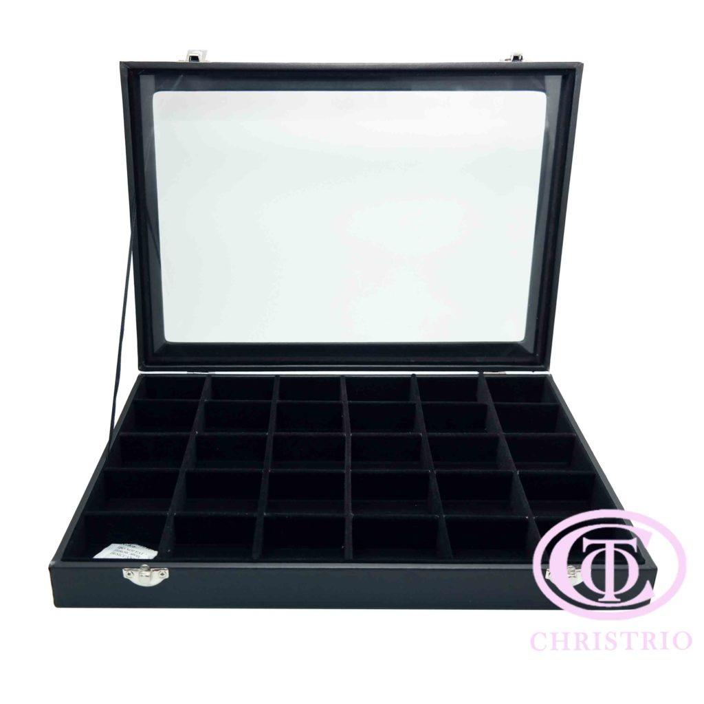 Rhinestone box black L – Zdobení krabice na nehty